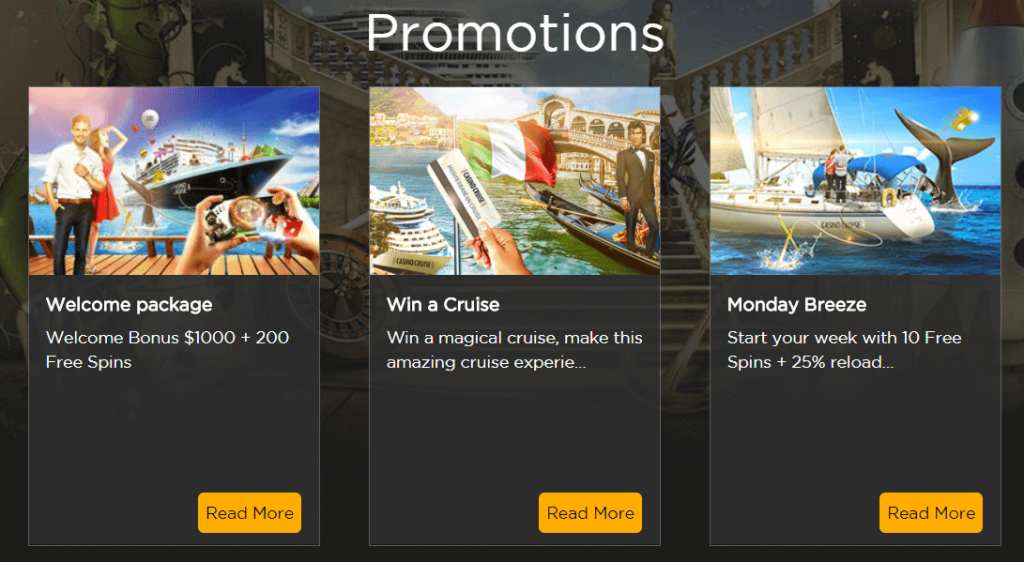 promotions casino cruise